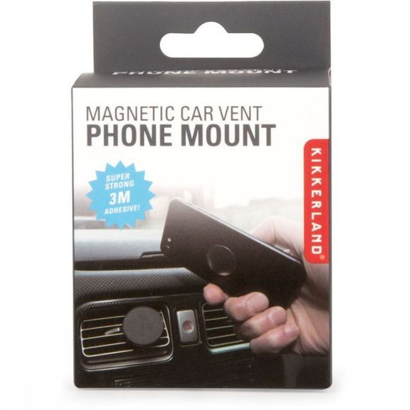 Kikkerland Gadget Aimantic Car Vent Phone Mount Noir