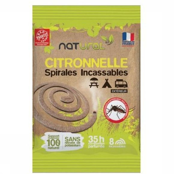 Natural Gadget Citronella Spirals 8 Pieces Geen kleur