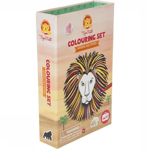 Tiger Tribe Jeu Colouring Sets Animals All Stars Pas de couleur