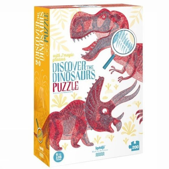 Londji Game Discover The Dinosaurs Puzzle No Colour