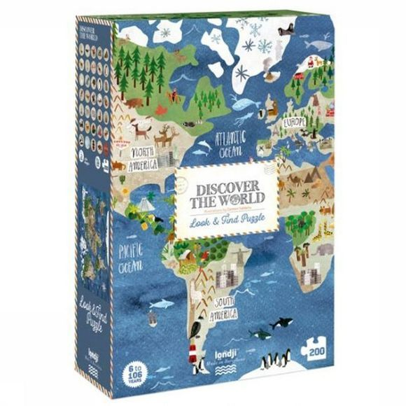 Londji Spel Discover The World Puzzle Geen kleur