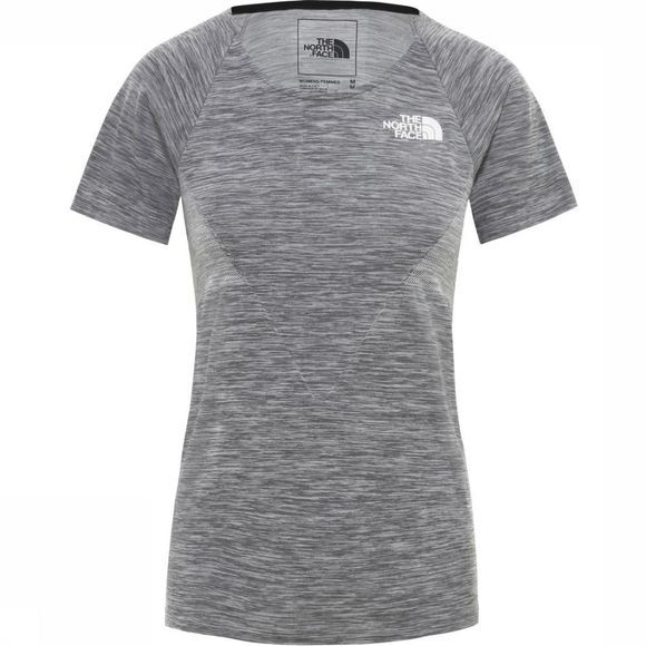 The North Face T-Shirt Impendor Seamless Donkergrijs/Wit