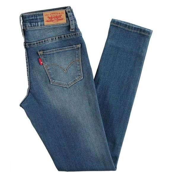 Levi's Kids Jeans 721 High Rise jeans/Middenblauw