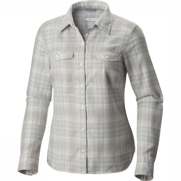 Columbia Shirt Silver Ridge Long Sleeve Flannel light grey