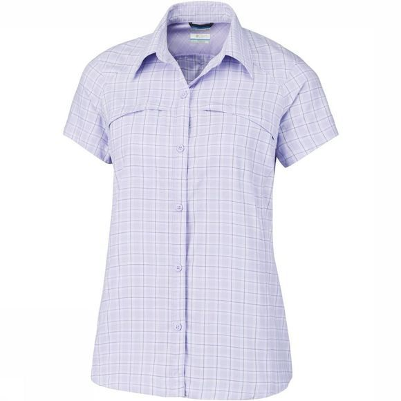 Columbia Shirt Silver Ridge Multi Plaid light purple