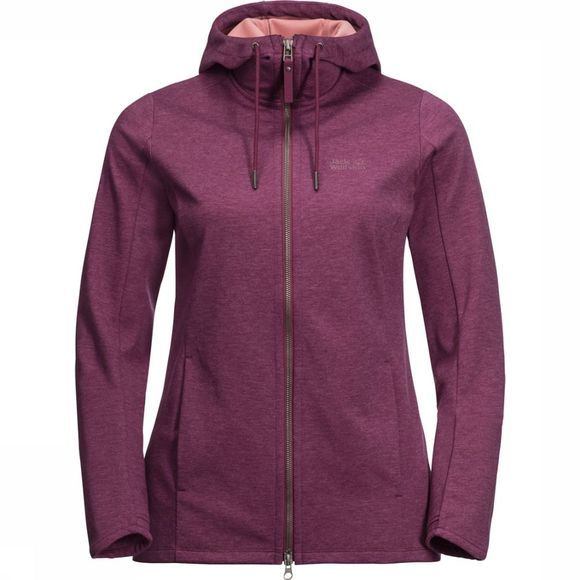 Jack Wolfskin Polaire Riverland Hooded Bordeaux