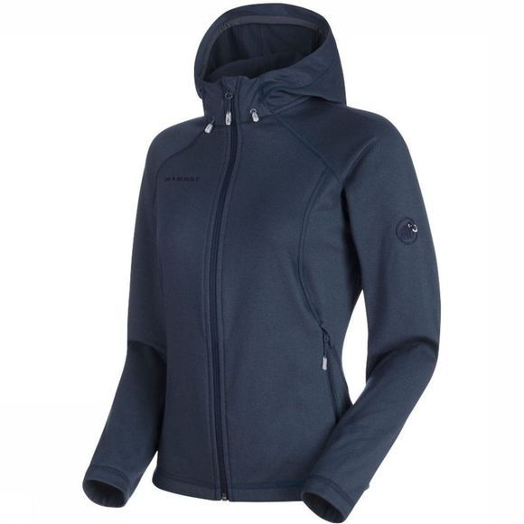 Mammut Fleece Runbold Ml Hooded Jacket Donkerblauw