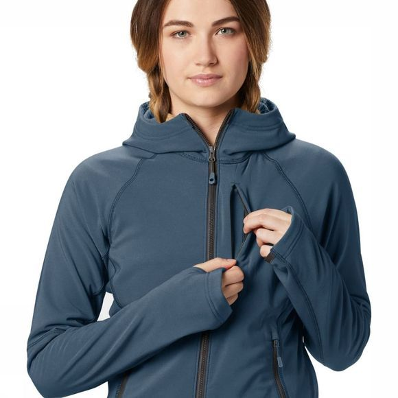 Mountain Hardwear Fleece Keele Hoody Donkerblauw