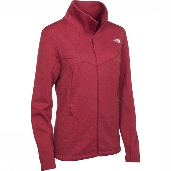 The North Face Polaire Inlux Wool Full Zip Rose Foncé