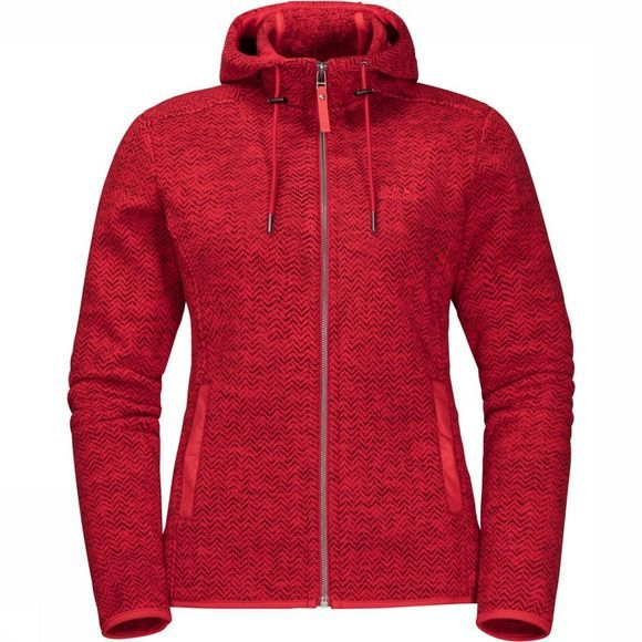 Jack Wolfskin Polaire Patan Hooded Rouge