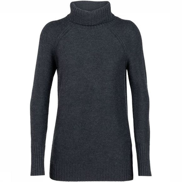 Icebreaker Pullover Waypoint Roll Neck Dark Grey/Dark Grey Mixture