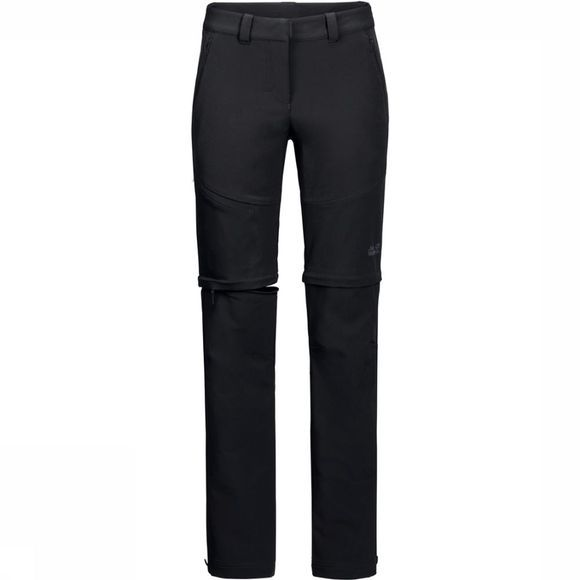 Jack Wolfskin Broek Activate Zip Away Long Zwart