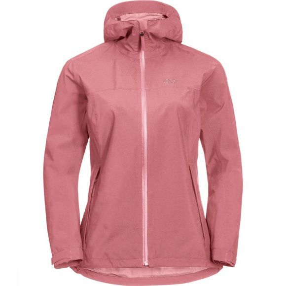 Jack Wolfskin Manteau JWP Shell Eco Pack And Go! Rose Moyen