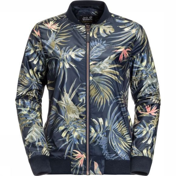 Jack Wolfskin Windstopper Tropical Blouson Marineblauw/Assortiment Bloem