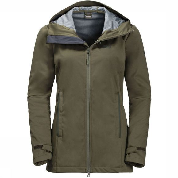 Jack Wolfskin Softshell Green Valley Middenkaki