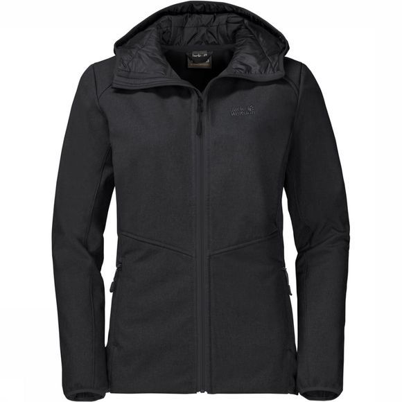 Jack Wolfskin Softshell Sky Point Hoody Zwart