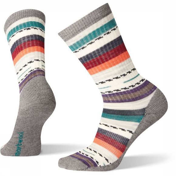 Smartwool Kous Hike Light Margarita Crew Middengrijs/Assortiment