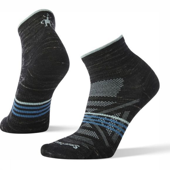 Smartwool Chaussette PhD Outdoor Ultra Light Mini Noir/Bleu Clair