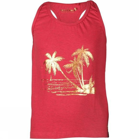 Stones and Bones T-Shirt Emerald Palmtrees Rouge