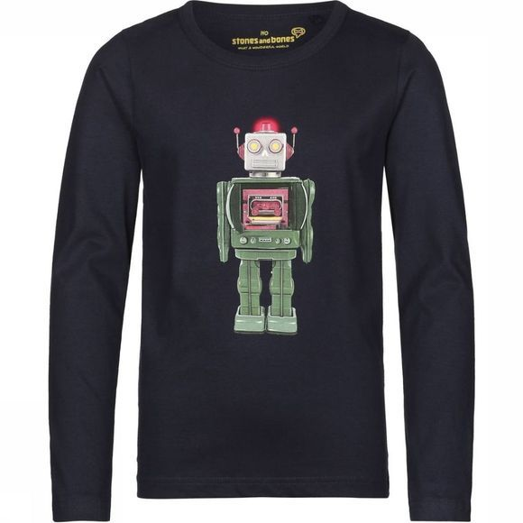 Stones and Bones T-Shirt Skipper Robot Donkerblauw