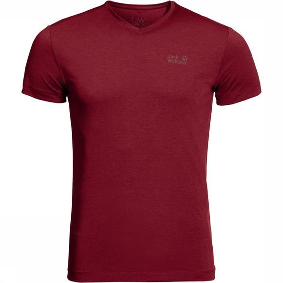 Jack Wolfskin T-Shirt Pack And Go Donkerrood