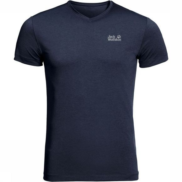Jack Wolfskin T-Shirt JWP Pack And Go! Donkerblauw