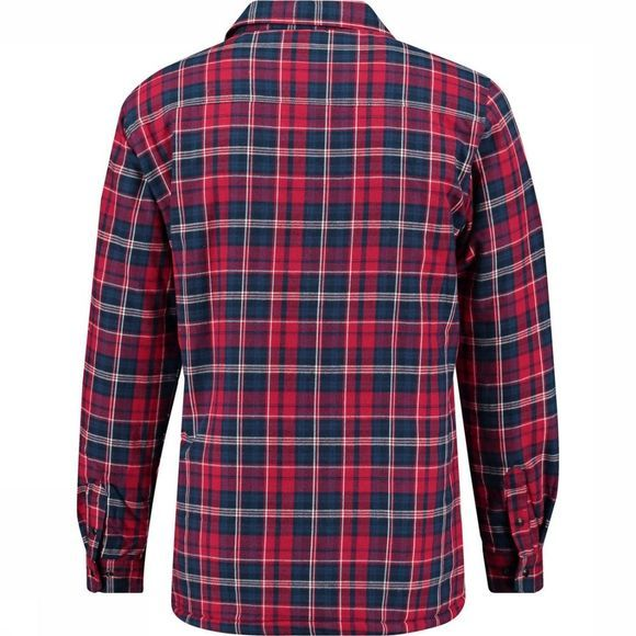 Ayacucho Shirt Flannel Padded dark blue/dark red