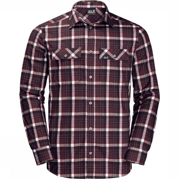 Jack Wolfskin Shirt Bow Valley Bordeaux