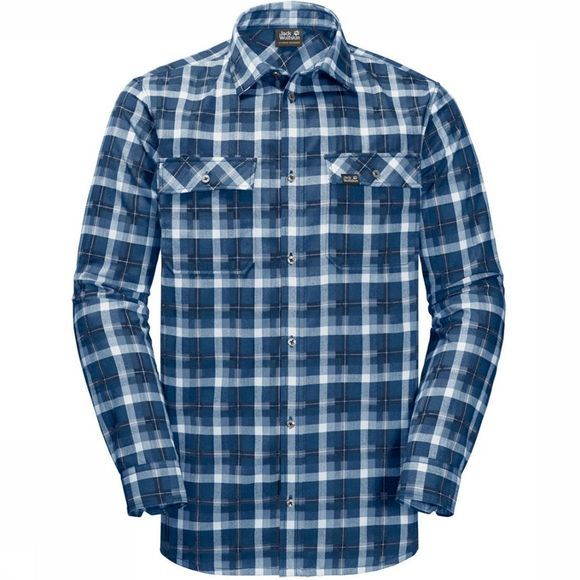 Jack Wolfskin Shirt Bow Valley dark blue/white