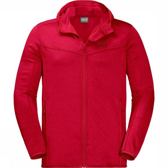 Jack Wolfskin Polaire Sutherland Hooded Rouge Foncé
