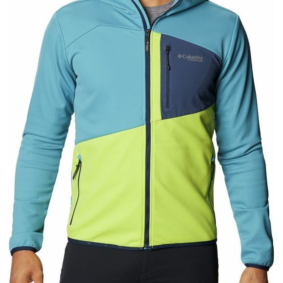 Columbia Fleece Peak Pursuit Tech Hoodie Lichtblauw/Limoen Groen