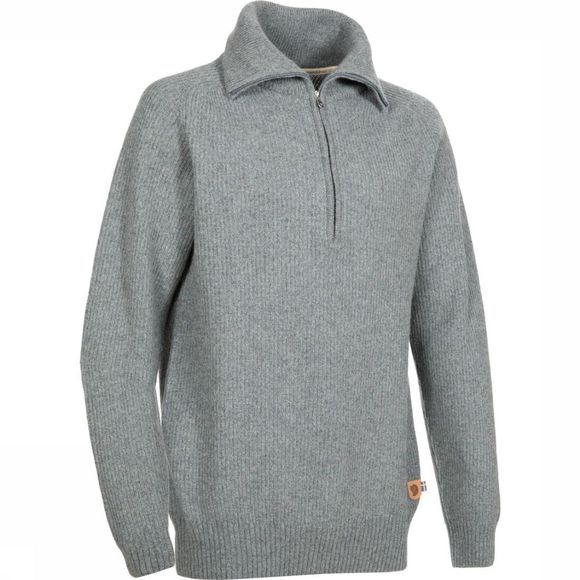 Fjällräven Pull Greenland Re-Wool Gris Moyen