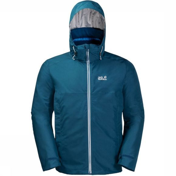 Jack Wolfskin Coat North Fjord 3In1 Petrol/Mid Blue