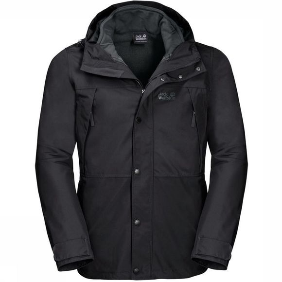 Jack Wolfskin Manteau West Harbour Eco 3 en 1 Noir