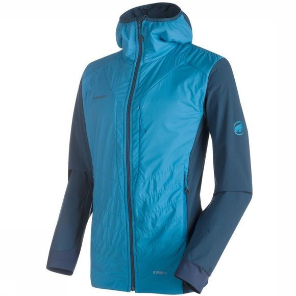 Mammut Jas Foraker In Light Hooded Jacket Middenblauw/Lichtblauw