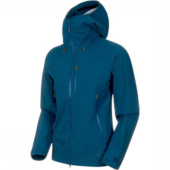 Mammut Manteau Kento HS Hooded Bleu