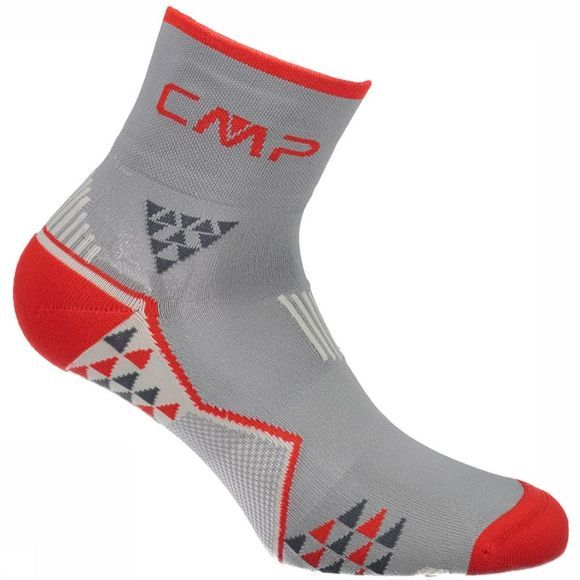 CMP Sock 3I97177 mid grey/red