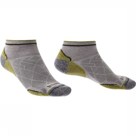 Bridgedale Chaussette Hike Coolmax Ultra Light T2 Low Gris Moyen/Vert