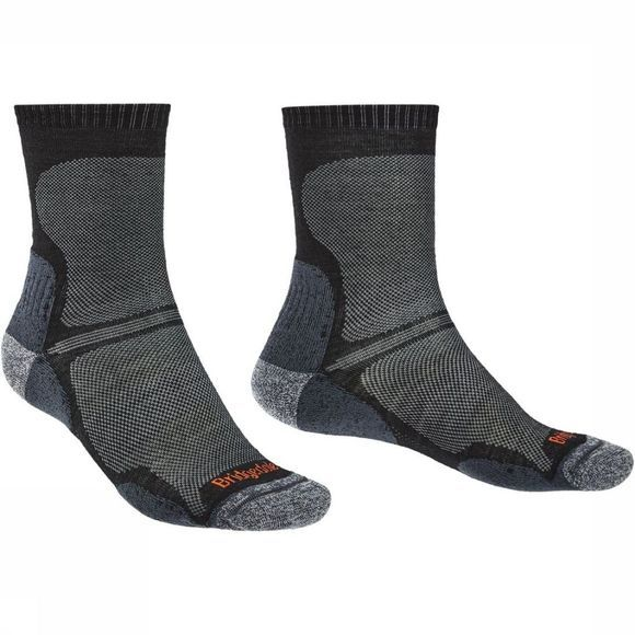 Bridgedale Chaussette Hike Merino Endurance Ultra Light T2 Noir