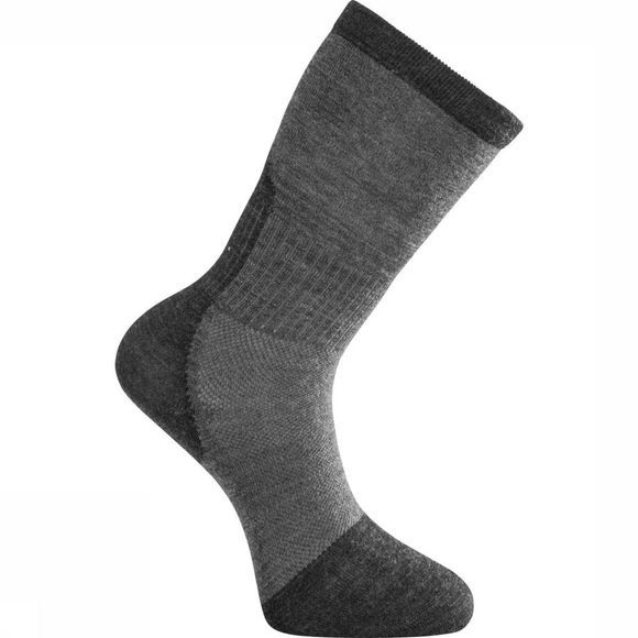 Woolpower Kous Skilled Classic Liner (thin technical hiking sock) Donkergrijs/Middengrijs