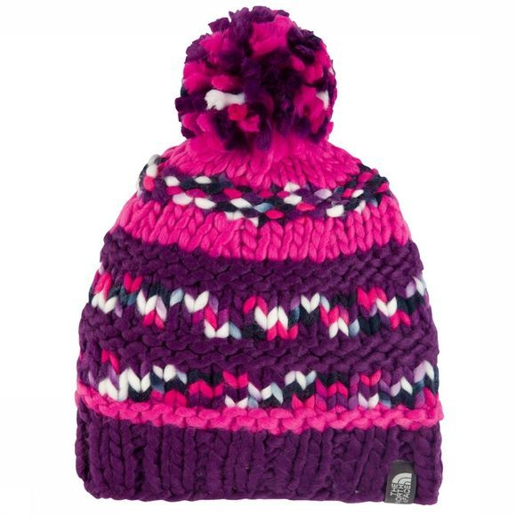 The North Face Bonnet Nanny Knit Beanie Pourpre Foncé/Fuchsia
