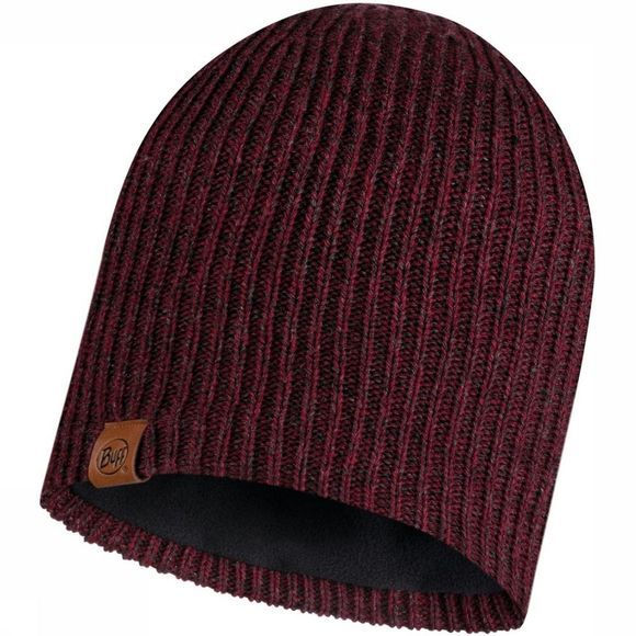 Buff Bonnet Lifestyle Knitted Hat Lyne Maroon Rouge Foncé