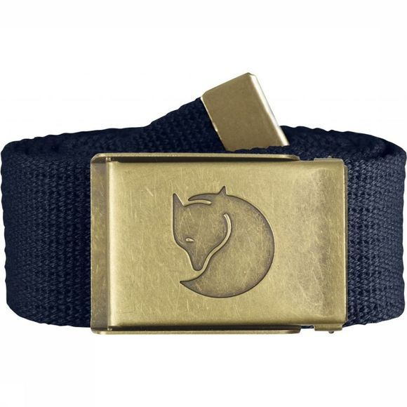 Fjällräven Belt Canvas Brass dark blue