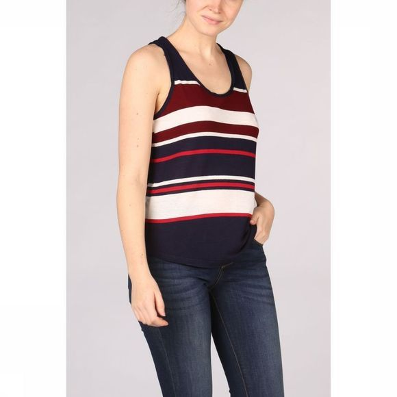 Kaporal T-Shirt Round With Stripes Marine/Red