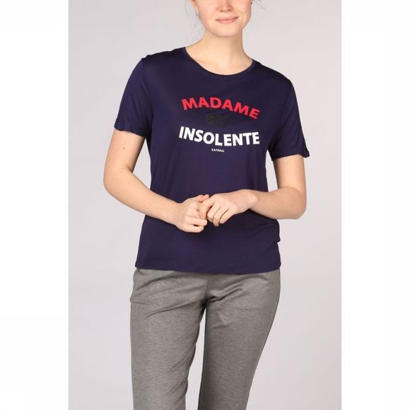 Kaporal T-Shirt Text Tricolour Marineblauw