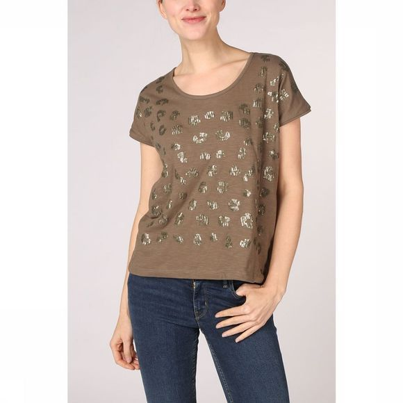Kaporal T-Shirt Round With Sequins mid khaki