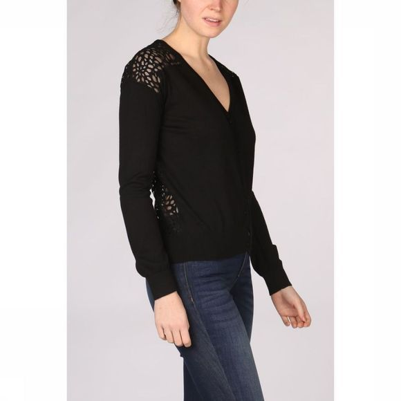 Kaporal Cardigan Lace Front And Back black