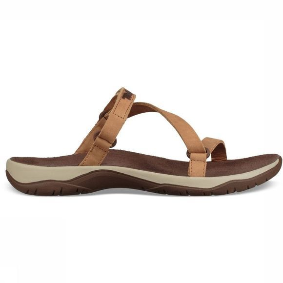 Teva Sandale Elzada Slide Leather Brun Clair