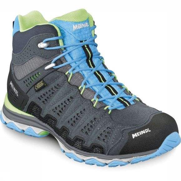 Meindl Shoe X-SO 70 Mid Gore-Tex Surround Dark Grey/Turquoise