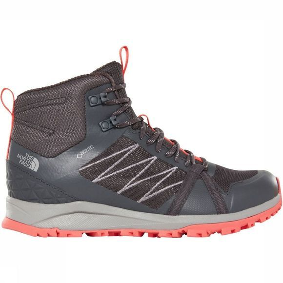 The North Face Chaussure Litewave Fastpack II Mid Gore-Tex Gris Moyen/Rose Clair